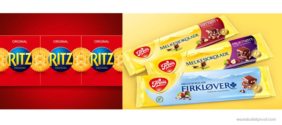 Gode eksempler fra britiske Bulletproof (Ritz og Freia)