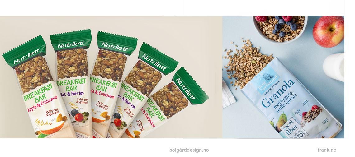 Gode eksempler fra Solgård Design (Breakfast bar) og Frank (Berit Nordstrand)